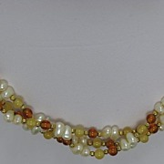 REDUCED Superb Vintage Marvella Three Strands Necklace Faux Pearl