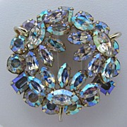 REDUCED Dazzling Vintage Signed Sherman AB Brooch Pin