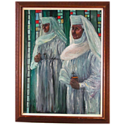 REDUCED Joseph Hilpert (1895-1975) Beautiful Religious Oil Painting