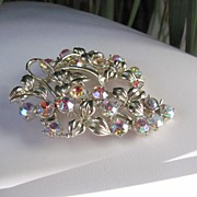 REDUCED Dazzling signed Coro Large AB Brooch Pin