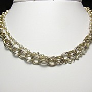 REDUCED Beautiful Sarah Cov two Strands Necklace with Faux Pearls