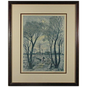 REDUCED Wonderful Etching S/N by Artist