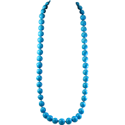 """SALE Simply Grand 37"""" Turquoise Magnesite 17.1-17.5mm Bead Necklace"""