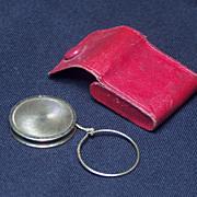 Vintage European Gold Filled Yo Yo in Leather Case, c. 1900