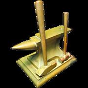 Vintage Bronze Anvil Paperweight