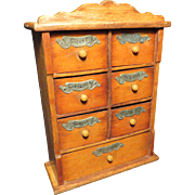 1900 Am. Maple Spice Chest