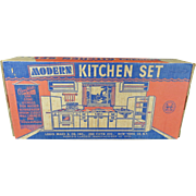Vintage MARX Modern Kitchen Set, Boxed. Near Mint.