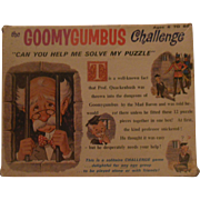 "Game puzzle 1965 ""the Goomygumbus Challenge"""