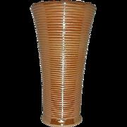 Anchor Hocking-Fire King  Peach lustre ringed vase