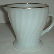 Golden Shell milk glass Anchor Hocking  Creamer