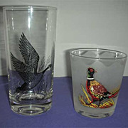 Bird drink glasses