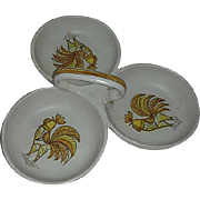 Rooster relish divided serving dish