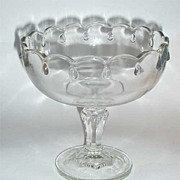 Indiana Glass Teardrop Clear Compote