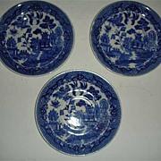 Vintage Japan Blue willow saucers