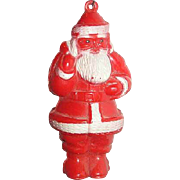 1950 Santa plastic celluloid  ornament