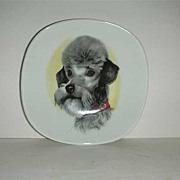 Germany Bavaria China Poodle plate