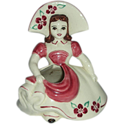 Goldammer  hat girl Ceramics of San Francisco ,California planter vase