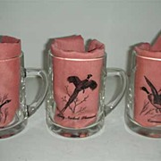 Federal glass flying game bird large mugs
