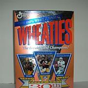 Super Bowl 30th Anniversary Starr, Bradshaw, Aikman Cereal box