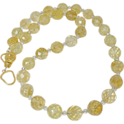 Faceted Golden Citrine Necklace