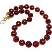 SALE Baltic Honey Amber Necklace