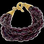 Five Strand Garnet Bracelet