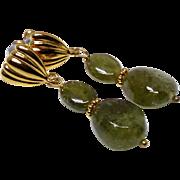 Green Garnet Drop Earrings