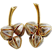 SALE Vintage Spanish Toledo Clip Button Earrings