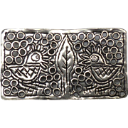 Vintage Indonesian Sterling Silver Two Birds Pin and Pendant