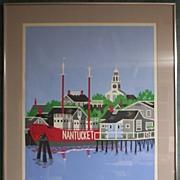 Nantucket Art by Eric Holch - Silkscreen Wharves at Dawn