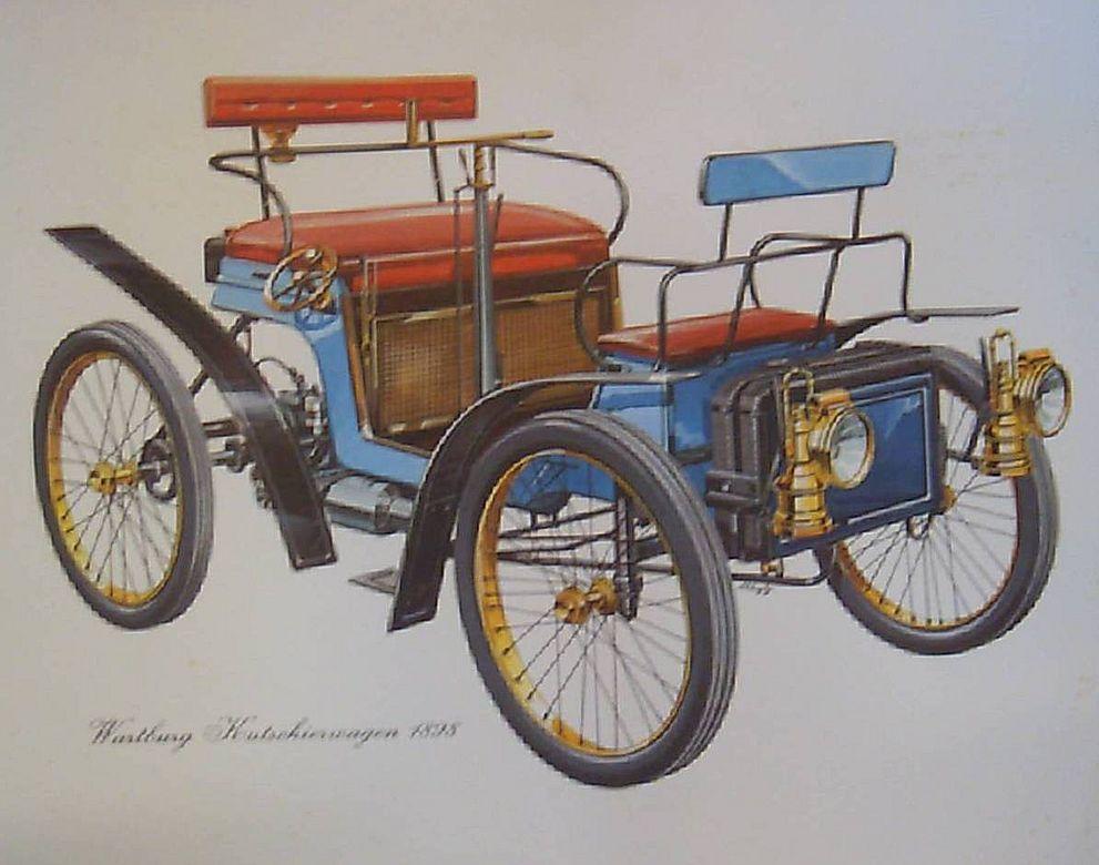 Cars Scania-Renault-Wartzburg VintageTransportation;  Print-