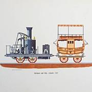 Train Lithographs - Vintage Prints of  Vintage Trains.