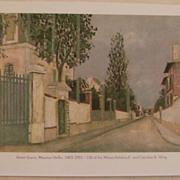 Maurice Utrillo-Street Scene-