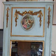 Trumeau Mirror - handpainted -gold leaf onlay