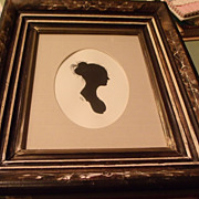 Silhouette Lady with Bun of Hair