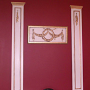 French Trumeau Panels-Wall Hangings-Art-Mirrors-Decorating-Designer Accessory