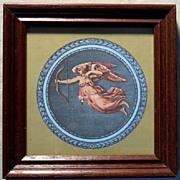 Greek Art-Framed Print-Blue Art-Miniature