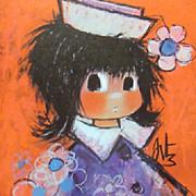 Big Eyed Children's Portraits-Art by Fritz