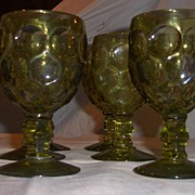 Imperial Green Glass Goblets