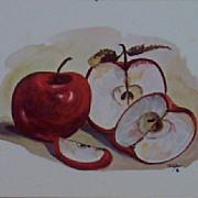 Apples Decoupage Print