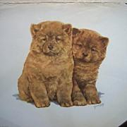 Vintage Watercolor Lithographs Animals Grace Lopez