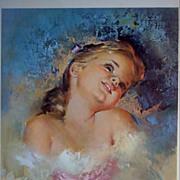 "Vintage Children's Portrait ""Fancy Free"" by Runci"