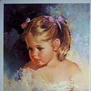 """Vintage Children's Portrait """"Wistful"""" by Runci"""