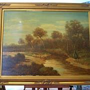 Oil Painting Sheep pastoral