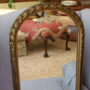 Mirror with etched flowers