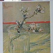 Vincent van Gogh-Flowering Almond Twig