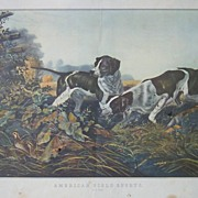 Currier and Ives-On A Point Lithograph