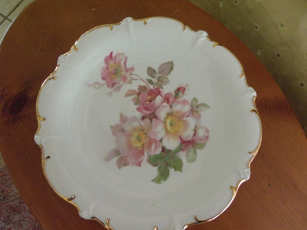 Wildrose China Plate By Schumann Arzberg Germany From