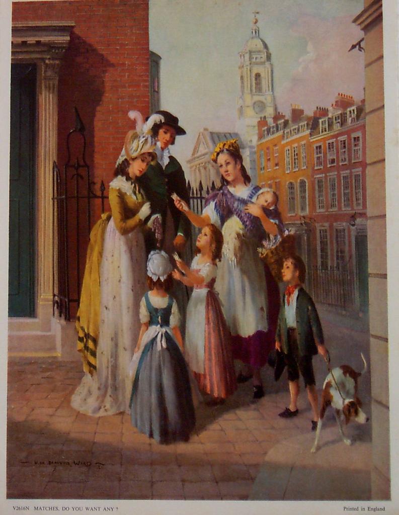 V. De Beauvoir Ward Art-Vintage English Street Scenes