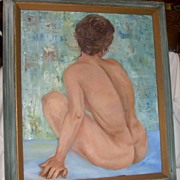 Original Oil Painting Nude Woman